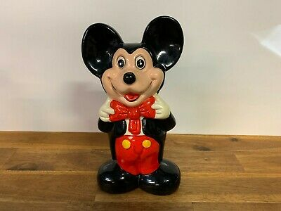 Vintage Mickey Mouse Ceramic Coin Money Box