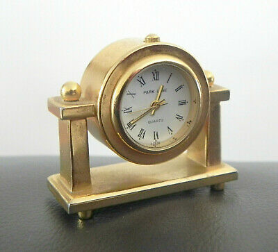 Vintage Park Lane Miniature Brass Coloured Carriage Clock Quartz