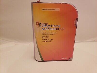Microsoft Office Home and Student 2007 for 3 PCs - Free Shipping