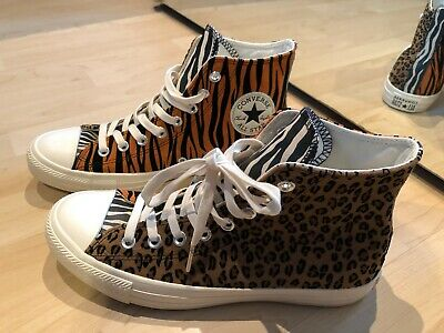 CONVERSE ALL STAR Hi Trainers Brown Orange Egret Animal