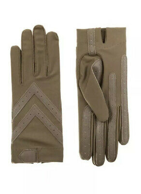 Isotoner Womens Classic Stretch Unlined SmartDri/Touch Gloves Smokey-Taupe L/XL