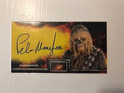CHEWBACCA - Peter Mayhew Signed Auto Star Wars Revenge of the Sith 2005