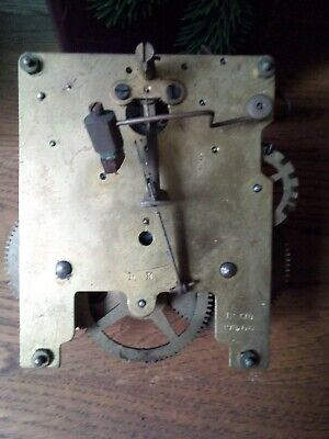 Vintage Haller 8 day chime Clock Movement - ( spares or repair)