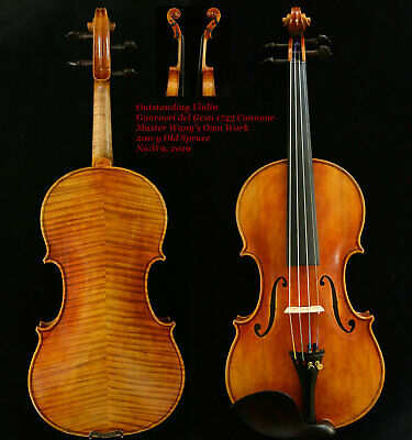 Outstanding Sounding Violin Master Wang's own Work 200-y Old Spruce No.W9