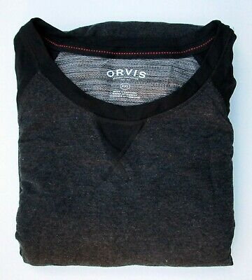 ORVIS Mens 2-Piece Essential Lounge Wear Set PJs Soft Fleece Charcoal M L XL XXL
