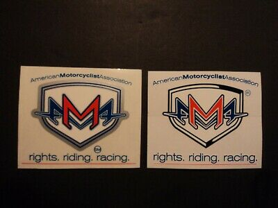 Lot Of 2 AMA Motorcycle Decals Stickers Rights Riding Racing Harley Davidson