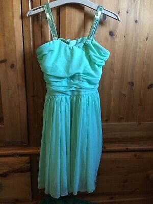 Girls new Look Mint Green Dress Age 9