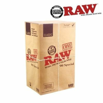 RAW Natural Cones Pre-Rolled 98 Special Box 1400 - CERTIFIED RAW Re-seller
