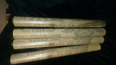 Laura Ashley Wallpaper 4 Rolls Tatton Duck Egg/pale Linen - 4 rolls