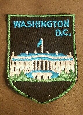 WASHINGTON D.C. WHITE HOUSE Embroidered Sew on Patch • Vintage