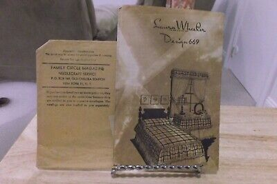 Vtg '46 Laura Wheeler Mail Order Design #669~Bedspreads, Curtains Instructions