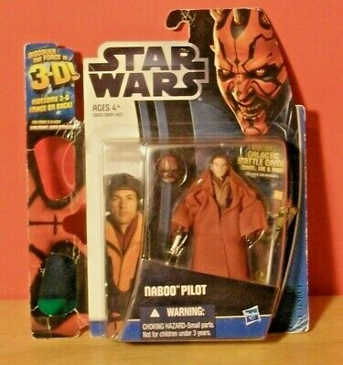 2012 STAR WARS Naboo Pilot Figure w/ 3D Glasses Hasbro
