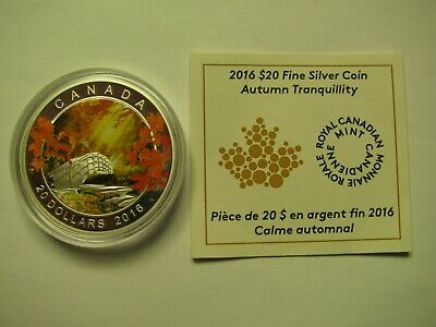 2016 Proof $20 Autumn #4-Tranquility Canada .9999 silver COIN&COA ONLY twenty do