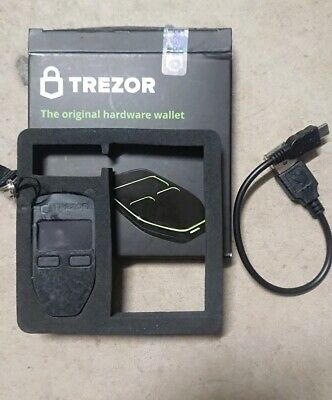 Trezor Bitcoin & Crypto Wallet (Black)