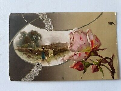 Postcard Embossed . Early 1900's. Not Reproduction.