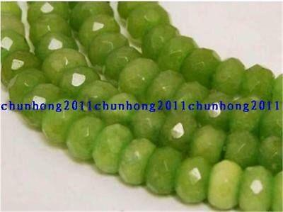 5x8mm facted Green Peridot Abacus Gemstone loose Beads 15''AAA