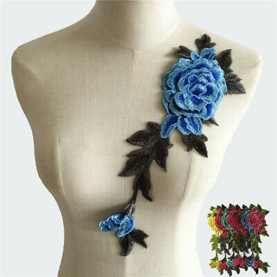 Embroidery 3D flower Lace fabric Appliques trim Lace Collar dress Accessories