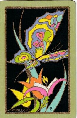 """Swap Playing Cards x 1 Narrow Named  Butterfly  """"Papillon"""""""