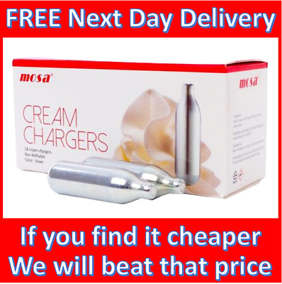 NOS Cream Chargers Nitrous Oxide Free Next Day Delivery 7x8g