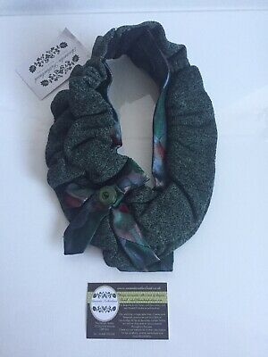 Handmade NWT Amanda Sutherland Necktie (scarf/necklace) made from vintage ties