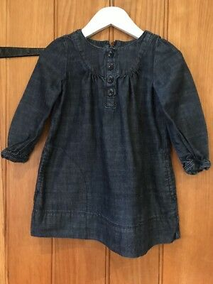 Gap Lovely Girls Denim Dress Age 3yrs In Excellent Condition