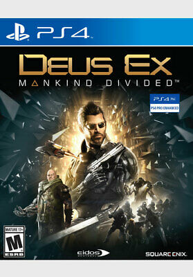 Deus Ex Mankind Divided Day One Edition PS4 PlayStation 4 Used
