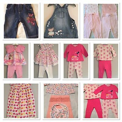 Girls Baby Bundle Outfits X10 Age 3-6 Months M&S Next Mothercare Disney