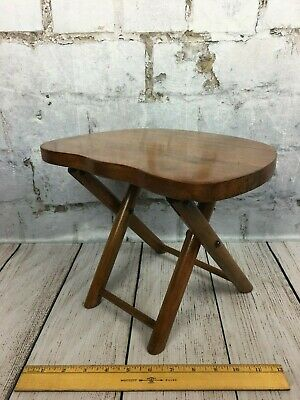 Nevco Fold N Carry Wood Stool Milking Plant Stand Foot Rest Made in Yugoslavia