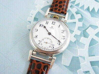 Omega Enamel Dial Vintage Art Deco style Swiss Mechanical Beautifull Wrist Watch