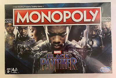 Marvel BLACK PANTHER Monopoly Board Game Hasbro Gaming 2-6 Players New Sealed