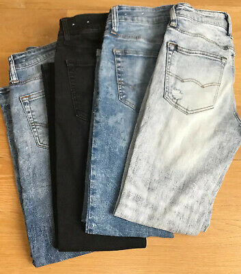 American Eagle Jeans Lot 4 Size 26x28 Skinny Distressed