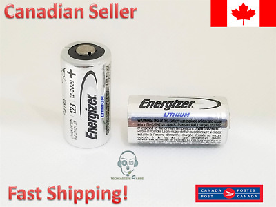 ENERGIZER OEM CR123A CR 123A 123 3V LITHIUM BATTERY - 2 Batteries EXPIRY 2029