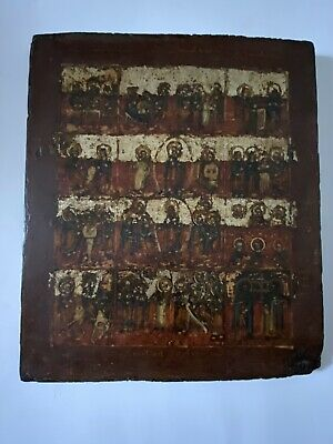 Antique Russian Hand painted Icon 19 th.century