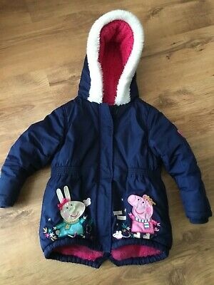 Girls warm winter coat, Peppa Pig, age 3-4, ideal spare for nursery