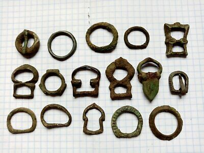 Lot  ancient Celtic, Roman and Byzantine bronze buckles