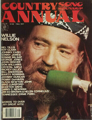 Country Song Roundup Annual Vtg Magazine Fall 1977 Willie Nelson No Label EX