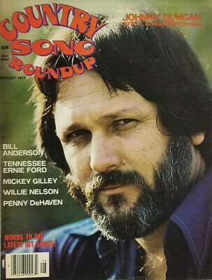 Country Song Roundup Vtg Magazine Aug 1977 - Johnny Duncan - Nelson No Label EX