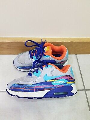 Kids  Boys/girls Nike Air Max 90 Multicolored Size Uk 9.5