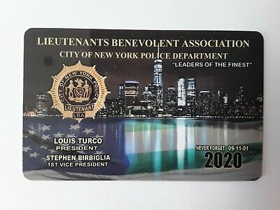 "1 "" Authentic 2020  Lba  Lieutenants  Card  Not Cea Sba Dea Pba Card"