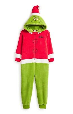 PRIMARK THE GRINCH ONESY Boys Girls Christmas Child Pyjamas Costume PJ Sleepsuit