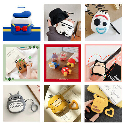 3D Cute Cartoon Silicone Charging Case Cover Skin Protective For AirPods 1/2/Pro