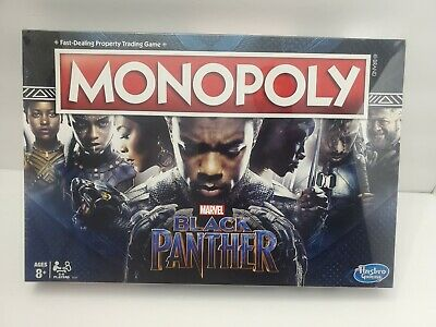 New Hasbro Monopoly Black Panther Family Board Game