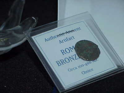 "Roman Coin Bronze 100-400AD Ancient Antique Soldier ? Emperor ""Choice"" Artifact"