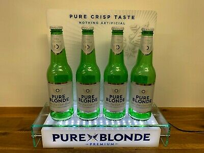 Pure Blonde Lager Beer Perspex LED Light Up Shop Display Advertising Sign