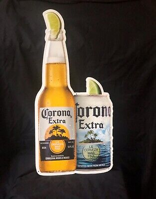 CORONA EXTRA Chalk Board Beer Metal Tin Sign Bottle /& Can W//Chalk /& Eraser New