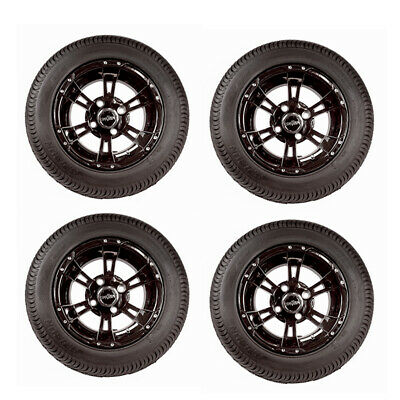 """10"""" Werewolf Wheels and 205/50-10 LoPro Tires for Golf Carts (Set of 4)"""