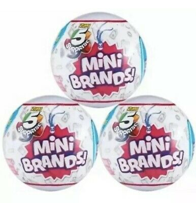 LOT OF 3 ZURU MINI BRANDS 5 SURPRISE BALL NEW 3 BALLS Hot Toy Of The Year 2019