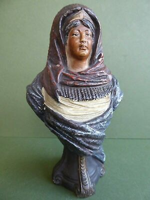 SUPERB ANTIQUE Limoges ART NOUVEAU FRENCH Painted BUST William Guerin W.G.&C