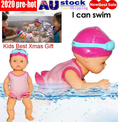 Electric Swimming Doll Waterproof Kids Toy Birthday Gift Home Decoration Toy❤SM