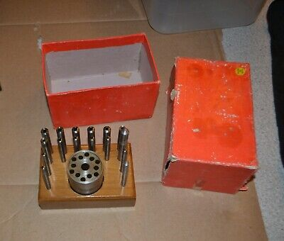 Watchmakers Staking Punches/Rivet Tool Anvil Set Made in India